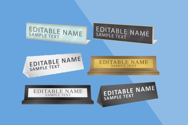 Desk Name Plate Printing Dubai