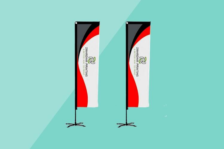L-Shape Flag Printing Dubai